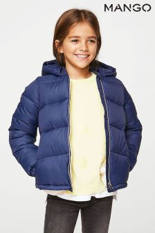 Mango Kids Navy Padded Jacket