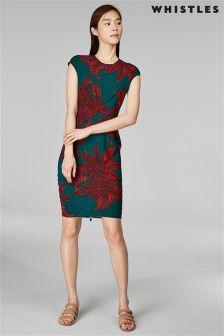 Whistles Palmyra Print Phoebe Silk Bodycon Dress
