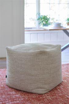 Textured Weave Mid Mink Cube