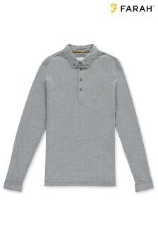 Farah Grey Merriweather Long Sleeve Polo