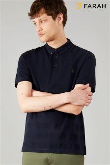 Farah Blue Stapleton Polo