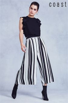 Coast Mono Demi Stripe Culotte Trouser