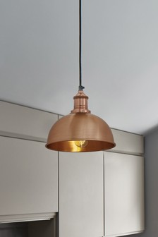 Industville Brooklyn Small Copper Dome Pendant