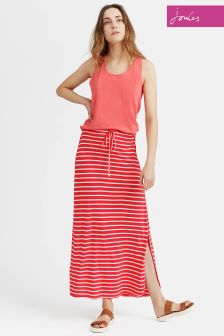 Joules Red Sky Stripe Cianne Maxi Skirt