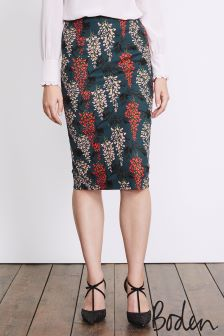 Boden Ink Pot Wisteria Printed Richmond Party Skirt