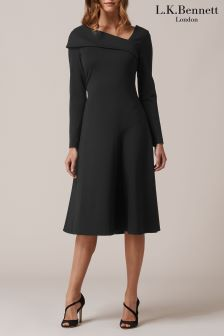 L.K.Bennett Reema Black Rayon Dress