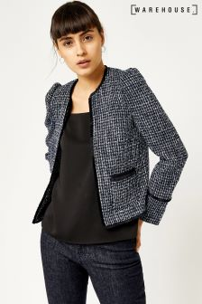 Warehouse Blue Bridget Tweed Jacket