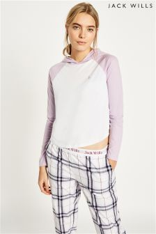 Jack Wills Ludlow Hooded Raglan Top
