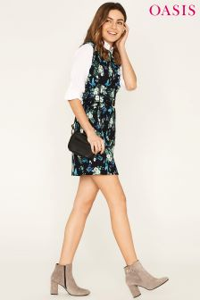Oasis Black Orchid Print Shift Dress