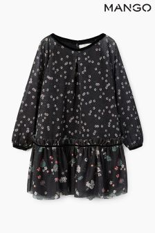 Mango Kids Black Sport Dress