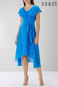 Coast Blue Dobby Wrap Dress