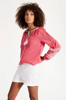 Joules Red Sky Yolanda Woven Top