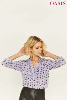 Oasis Blue Bird Viscose Shirt