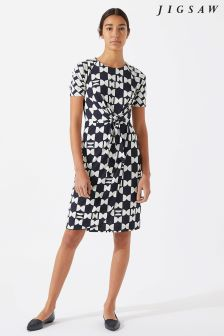 Jigsaw Blue Knot Waist Dress