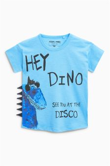 Short Sleeve 3D Spikes Disco Dino T-Shirt (3mths-6yrs)