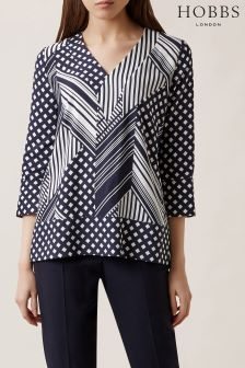 Hobbs Blue Shelly Top
