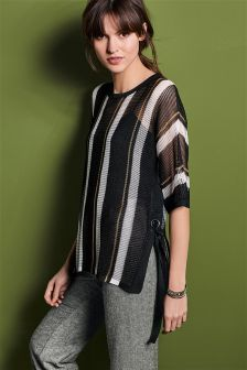 Stitch Tie Side Sweater