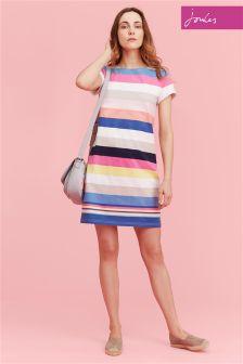 Joules Wide Multi Stripe Riviera Dress