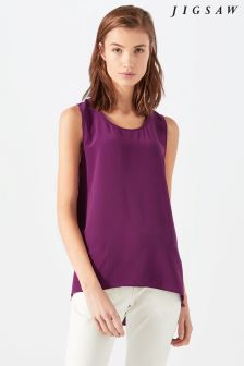 Jigsaw Purple Silk Vest Top