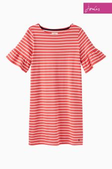 Joules Red Sky Stripe Sienna Dress