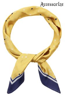 Accessorize Yellow Confetti Neckerchief