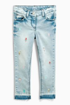Ice Cream Embroidered Skinny Jeans (3-16yrs)