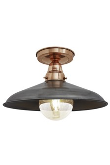 Industville Copper And Pewter Flush Mount Light