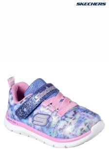 Skechers® Blue Skech Lite Blossom Cutie Floral Camo Sneaker