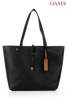 Oasis Black Shopper Bag