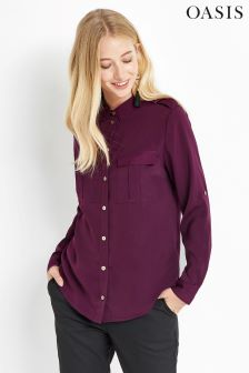 Oasis Purple Soft Utility Shirt