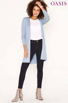 Oasis Light Blue Edge To Edge Cardi