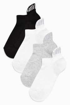 Cushioned Reflector Trainer Socks Three Pack (Older Girls)