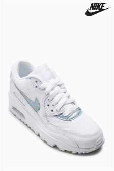 Nike White/Blue Air Max 90