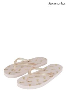 Accessorize Pink Pineapple Party Flip Flop