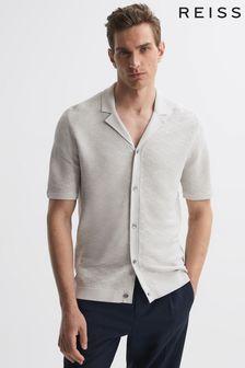 Jigsaw Grey Suede Fluted Skirt