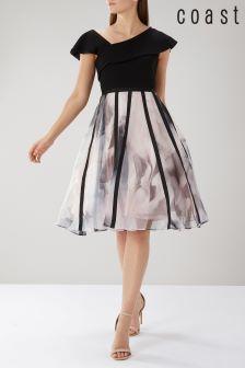 Coast Black Maude Print Organza Dress