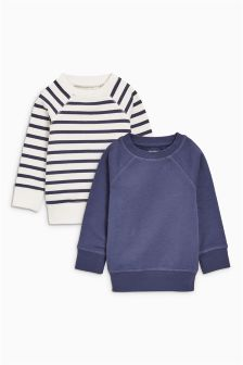 Stripe Crews Two Pack (3mths-6yrs)