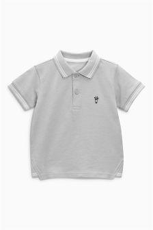 Short Sleeve Giraffe Embroidered Polo (3mths-6yrs)