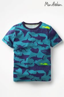 Boden Blue Printed T-Shirt