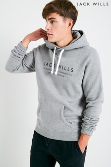 Jack Wills Grey Marl Batsford Wills Popover Hoody