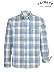FatFace Blue Gomshall Large Gingham Shirt