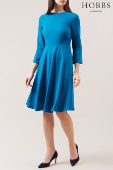 Hobbs Teal Samantha Dress