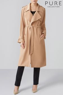 Pure Collection Natural Oversized Soft Trench Coat