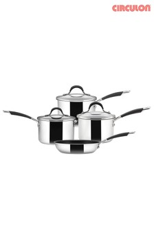 Set of 4 Circulon Momentum Stainless Steel Pans