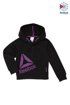Reebok Black And Vicious Violet Essentials Hoody