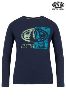 Animal Brookey Navy Blue Long Sleeve T-Shirt