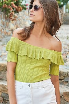 Bardot Ruffle Sweater