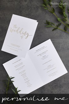 Personalised Script Foil Order Of The Day Card By Wedding Graphics