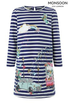 Monsoon Blue Minnie Sweat Dress