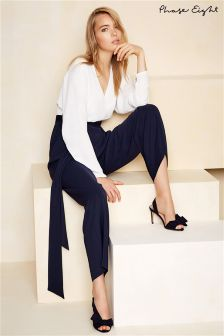 Phase Eight Ivory/Navy Betina Batwing Sleeve Jumpsuit